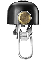 ROCKBROS Bike Bell Bicycle Ring Bell Classic Brass Bike Horn Ring Bell with Crisp Clear Sound Cycling Accessories for Mountain Bike Road Bike Black