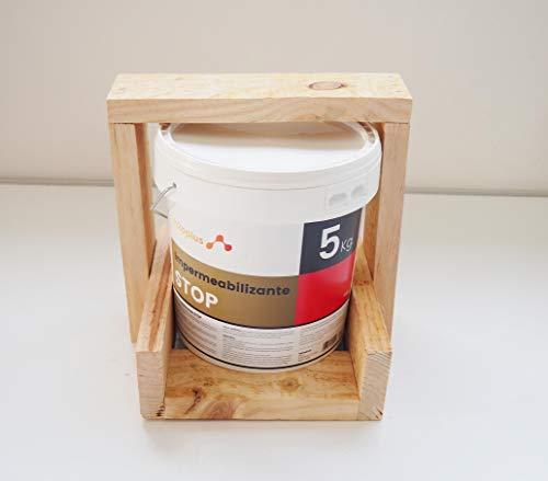 Revestimiento Elástico Impermeabilizante Stop · Pintura para Impermeabilizar parámetros horizontales en Terrazas, Azoteas, Balcones y Tejados · Color Rojo Teja · 5 Kg (4,15 L)