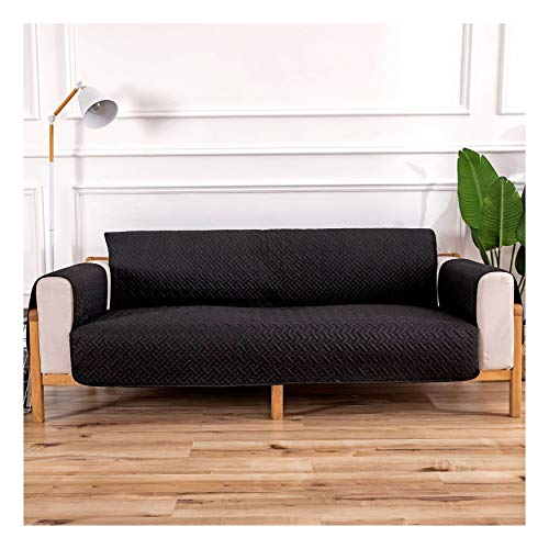 XCYYBB Water Repellent Oversized Sofa Covers for Large Recliner, Oversized Sofa Covers,Waterproof Sofa Arm Covers Stretch Arm Caps for Armchairs Non Slip Pair of Furniture Protector -Black 3seater