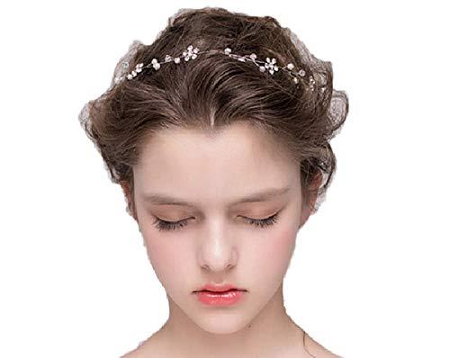 Damen Haarschmuck Haarband Haarreif Haarbänder Haardeko Kristallen Hochzeit Braut Kristall Perlen Edel Edelschmuck Accessoires (Modell 1)