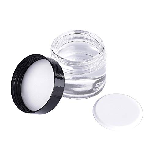 Ogquaton Tragbare Glas Make-up Jar Pot Reise-Gesichtscreme/Lotion/Cosmetic Container Holder - klar,...