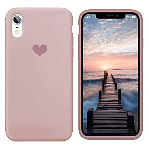 13peas Kompatibel mit iPhone XR Hülle Silikon iPhone XS Schutzhülle Handyhülle iPhone XS Max Silikonhülle Herz Motiv schutzschale iPhone X Hülle Tasche Handytasche Weiche Etui