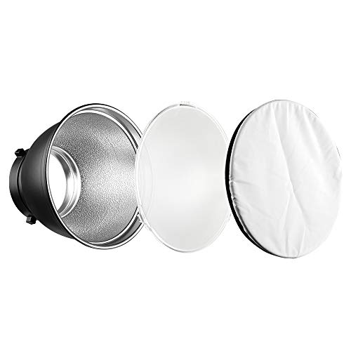 Soonpho Diffusore riflettore standard, 17,8 cm, panno morbido bianco per Bowens Mount Studio Strobe Flash Light Speedlite.