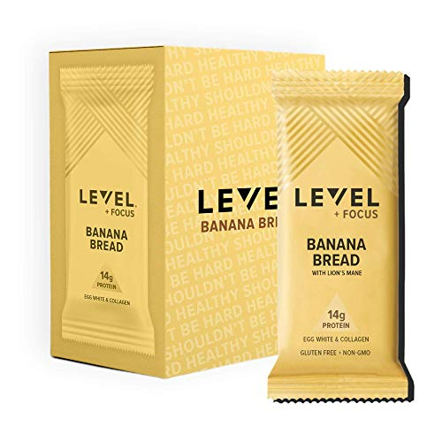 Level Foods - 6 Banana Bread 14g Pure Protein Bars, High Protein, Nutritious Low Carb Snacks, Healthy Food to Support Energy, Low Sugar, Gluten-Free