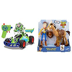 Product 1: RC BUZZ BUGGY - has a 2 channel radio and full directional movement left, right forwards and backwards Product 1: TURBO SPEED - blaze past Gabby Gabby and her army of puppets with the turbo speed function, which increases the speed of this...