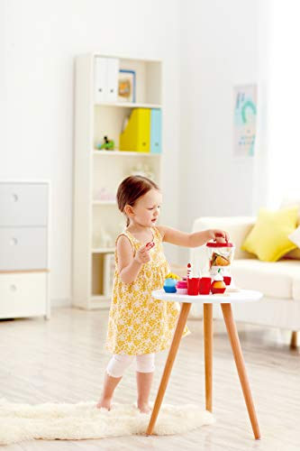 Hape Smoothie Blender   Multicolor Kitchen Smoothie Machine Play Set Complete with Cups & Straws