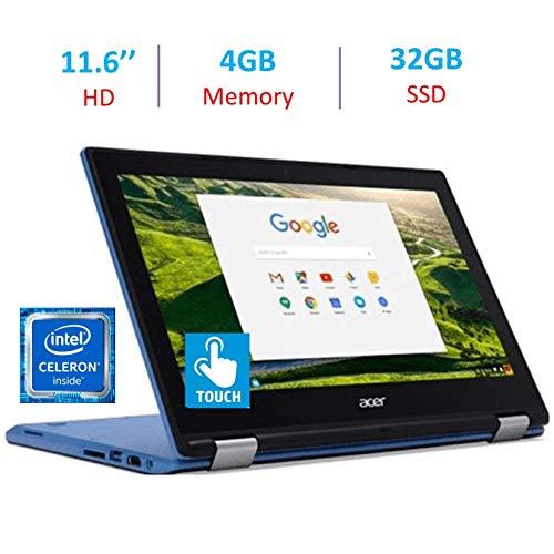 Acer Chromebook R11 11.6-inch Touchscreen HD IPS Display 360-Degree Hinge Laptop PC, Intel Celeron N3060 Processor, 4GB RAM, 32GB SSD, Webcam, Bluetooth, HDMI, 802.11ac WiFi, Google Chrome OS