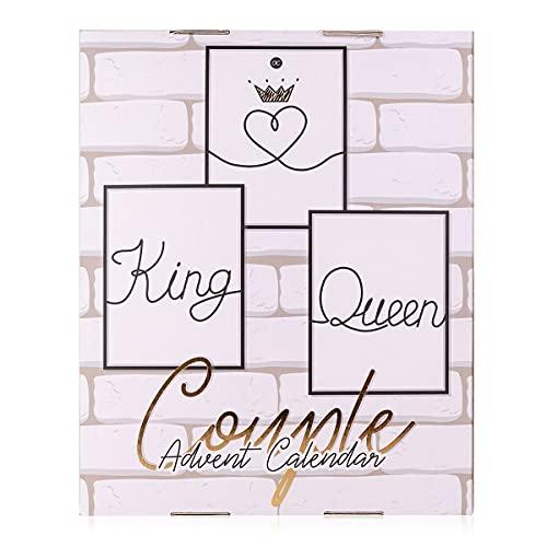 accentra Adventskalender King & Queen Für Paare Mit 24 Bade-, Körperpflege Und Accessoires Produkten Für Eine Abwechslungsreiche Und Verwöhnende Adventszeit