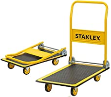 Stanley PC527 Platform Trolley with 150 kg Capacity, Steel Portable Foldable Multi-functional Dolly Push Cart with 360...