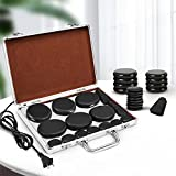 Hot Stones Massage Set, Electric Basalt Hot Stones with Heater Kit, for Professional or Home spa, Relaxing, Healing, Pain Relief (18 Pcs)
