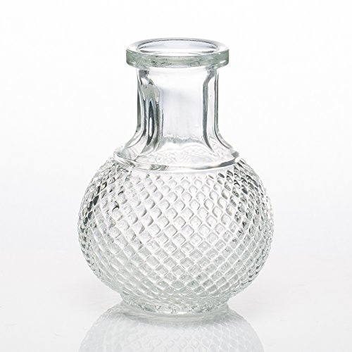 Richland Glass Bud Vase Round Perfume Bottle Set of 36