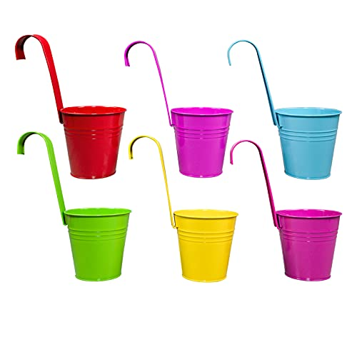 Clic-And-Get Fioriera Vaso da Appendere Fiori Pentola Balcone Colorato Piantatrice del Fiore Piante - Set di 3 Set Economico