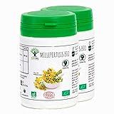 Millepertuis - Bioptimal - Complément Alimentaire - Millepertuis bio - 2 x 60 gélules - Fabriqué en France - Certifié par Ecocert