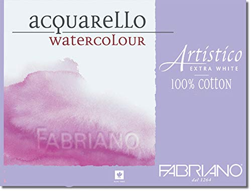 Fabriano Artistico 300 Pound Cold Press 4 Sheets 11x14' - Extra White