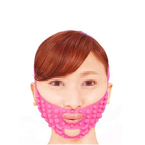 XYSQWZ Masque Facial De Massage en Silicone Étroitement Forme Petit Ascenseur V Au Modèle Décret Bandage Lifting Rose