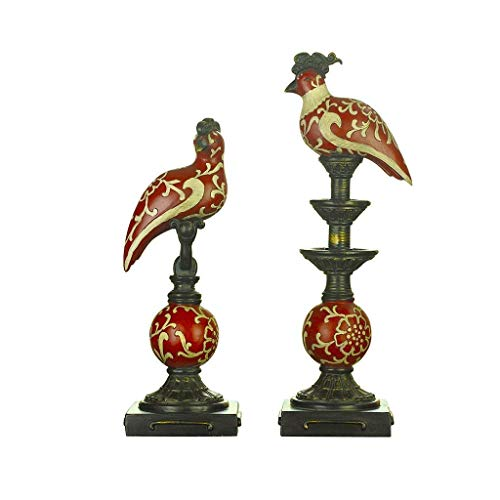 Zixin Statuen EIN Paar Strauß Ehe Ornamente Porch Tier Resin Statue Heim Wohnzimmer Crafts Möbel
