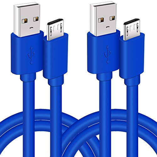 2 Pack 10Ft PS4 Controller Charging Cable,Charge and Play,Micro USB Fast Charger Sync Long Cord for Xbox One S/X,Sony Playstation 4 PS4 Slim/Pro,Android Phone,Samsung Galaxy S6 S7 Edge Note 5 4