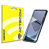 ACTECOM Protector de Pantalla TPU Hidrogel compatible con Samsung Galaxy S8 Plus Flexible Membrana Lámina Protectora Cubierta Protectora