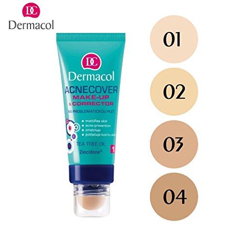Dermacol - Maquillaje + Corrector para Pieles Acneicas - Acnecover 04-1 unidad