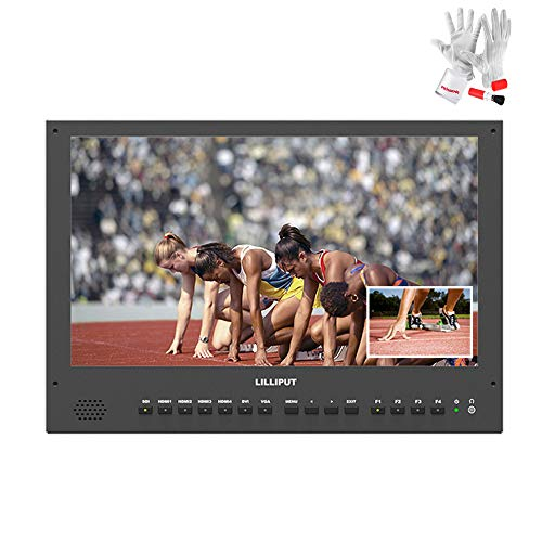 "LILLIPUT BM280-4KS 28"" 10bit 3840x2160 3G-SDI 4K HDMI 3D LUTS and HDR Broadcast Director Monitor with V mount plate"