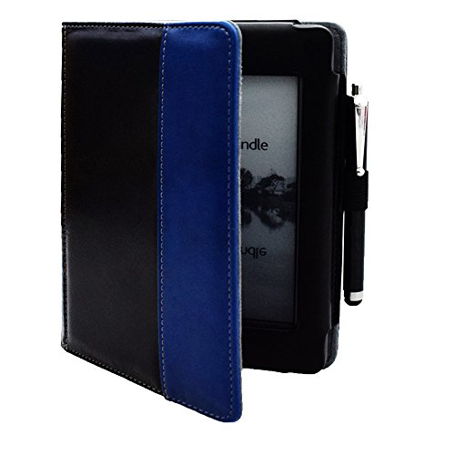 Kindle d01200 case Flip Cover for Kindle Touch (2012 Old Model) case, Folio Soft Cover for D01200 Kindle Touch ebook Reader Book case Pouch Bag Sleeve (Black)