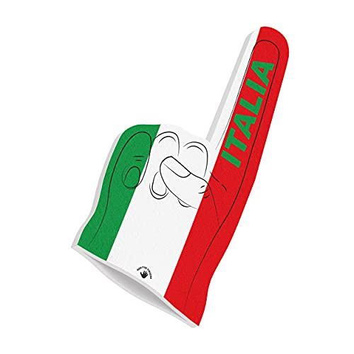 HIGH FIVE FINGERS Italia Bandera de la Eurocopa 2021   Abanico de Espuma para Fiestas, estadios y Eventos   Tamaño único   44 x 22 x 2,5 cm   Italy