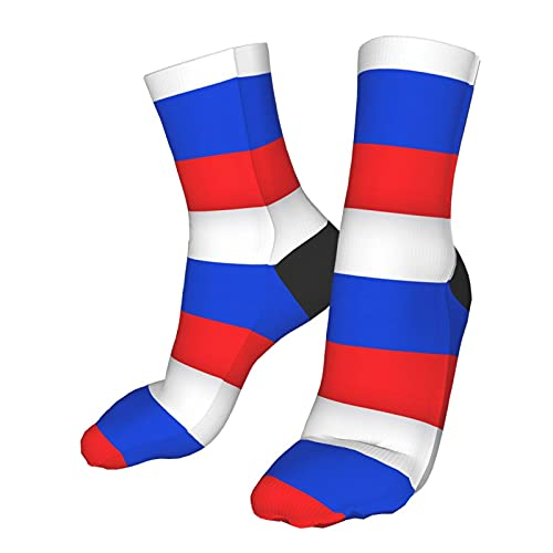 wuya8 Russian Flag Compression Socks for Men & Women - Best for Running,Flight Travel, Skiing- Boost Athletic Stamina & Recovery