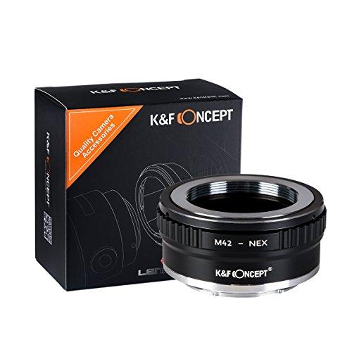 K&F Concept® M42-NEX II Kupfer-Bajonett Objektivadapter,Adapter Ring,Sony NEX Adapter,Objektiv Adapterring für M42 Objektiv auf Sony NEX E-Mount Kamera Sony Alpha NEX-7 NEX-6 NEX-5N NEX-5 NEX-C3 NEX-3