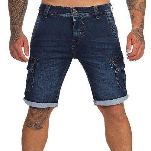 Timezone Herren Cargo Jeans Shorts 25-10021 Stanley Light Aged wash W36