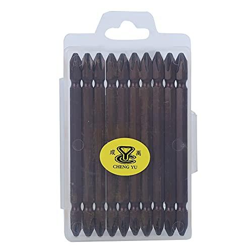 TAKE FANS 10 destornilladores en cruz de doble cabezal, de aleación de cromo vanadio, acero magnético, herramienta de mano eléctrica, accesorios de latón antiguo
