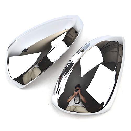 lilili Scheinwerfer Glasabdeckung Car Styling Chrome Rücktürseitenspiegelabdeckung Trim Rückansicht Overlay Garnieren Fit for Volkswagen VW Tiguan MK2 2016-2019