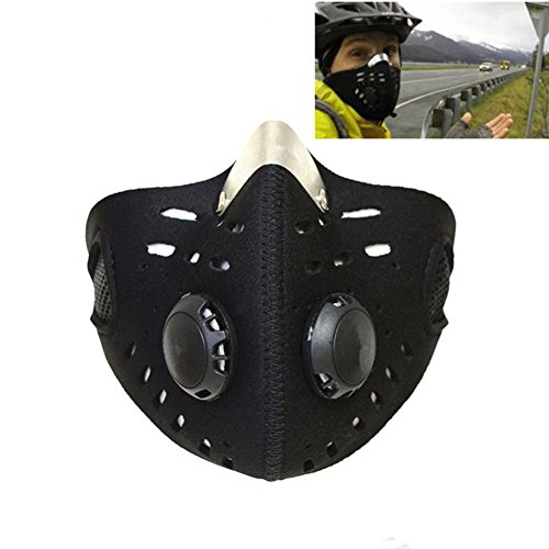 Qiorange Outdoor Sports Mask Filter Air Pollutant for Bicycle Riding Traveling Open-air Activities Protective Universal