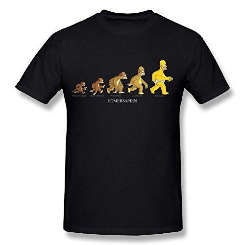 Desolate Meentre Men's Homer Simpson Evolution T Shirt