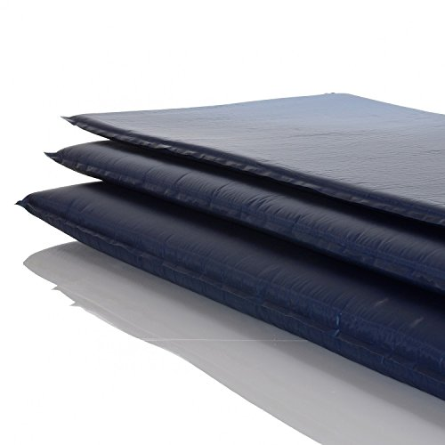 LCP Sports Selbstaufblasende Luftmatratze Isomatte 200x66 cm und 6 cm Dick/Stark; Blau