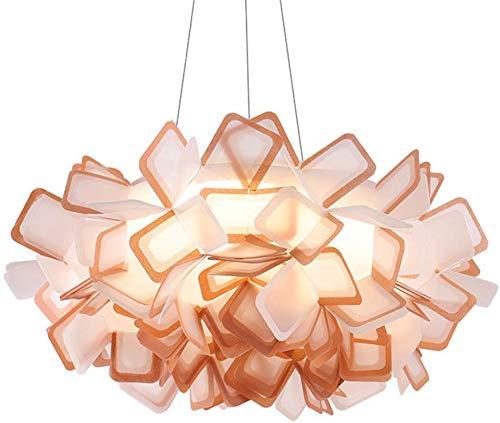 YFAZTS Italia CLIZIA Lampadario Origami Castagno Lampada a Sospensione Nordic Simple Home Illuminazione a LED Soggiorno Sala da Pranzo Acrilico Lampadario,Marrone