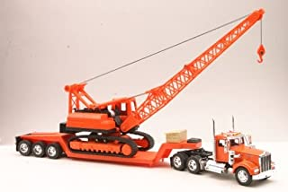 KENWORTH W900 LOWBOY W/ CRANE Truck New Ray