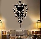 Etiqueta De La Pared Buda Cabeza Cara Budismo Yoga Vinilo Etiqueta De La Pared Decoración Del Hogar Sala De Estar Diy Arte Mural Papel Pintado 57 * 109