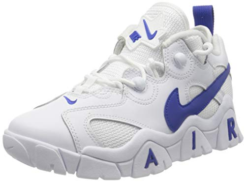 Nike Jungen AIR Barrage Low (GS) Basketballschuh, White Hyper Blue, 36.5 EU