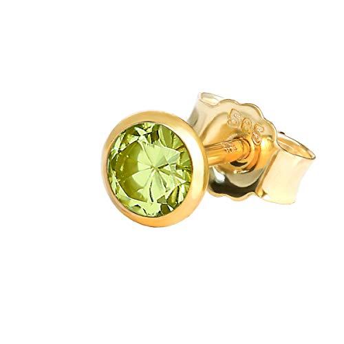 NKlaus 14 quilates oro amarillo redonda Peridot