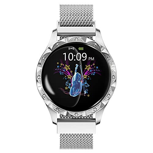 FVIWSJ Smartwatch Impermeable,Reloj Inteligente Mujer Hombre Niños,Modos Deportivos, Fitness Tracker Ultrafinos,Pulsera Actividad Impermeable IP68 para Android iOS,Blanco