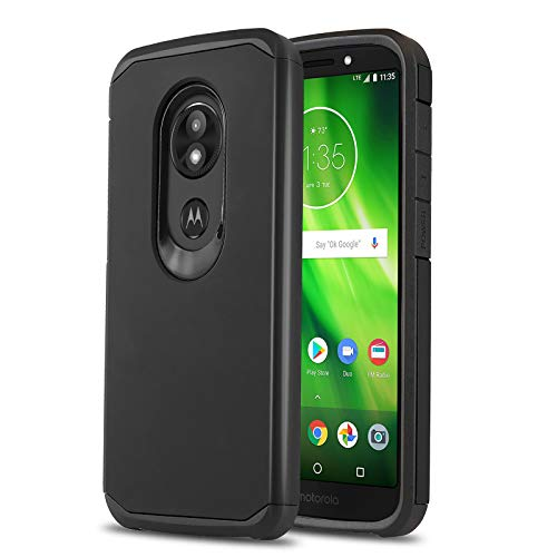 Phone Case for [Motorola Moto E5 (XT1920DL)], [DuoTEK Series][Black] Shockproof Cover [Impact Resistant][Defender] for Moto E5 (Tracfone, Simple Mobile, Straight Talk, Total Wireless)