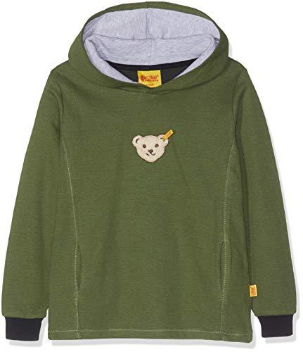 Steiff  Jungen Sweatshirt Quitschbär 6843523, Grün (Bronze Green|Oliv 5760), 116