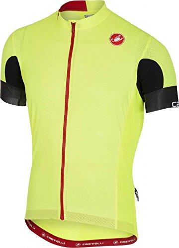 Castelli 4518004, Camiseta Manga Corta Hombre, Hombre, C4518004, Yellow Fluo, Medium