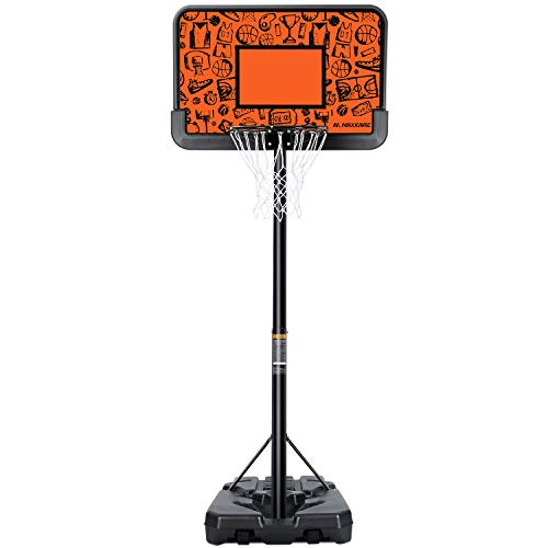 MaxKare Portable Basketball Hoop & Goal Basketball System Stand Height Adjustable 7ft 6in-10ft with 44 Inch Backboard & Wheels Basketball Equipment for Youth Kids Indoor Outdoor Use