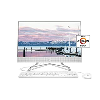 HP 24-inch All-in-One Desktop Computer, AMD Athlon Silver 3050U Processor, 8 GB RAM, 256 GB SSD, Windows 10 Home (24-dd0010, White) (B0849GZCQR) | Amazon price tracker / tracking, Amazon price history charts, Amazon price watches, Amazon price drop alerts