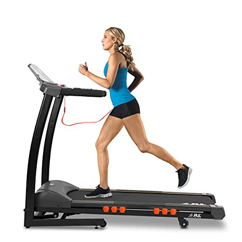JLL S300 Digital Folding Treadmill, 2021 New Generation Digital Control 4.5HP Motor, 20 Incline Levels, 0.3km/h - 16km/h, 15 Professional Programs, 2-Year Parts & Labour, 5-Year Motor Cover