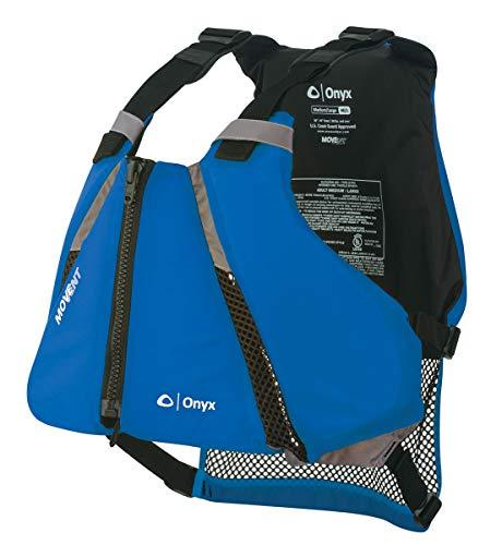 ONYX MoveVent Curve Paddle Sports Life Vest, Medium Large, Blue