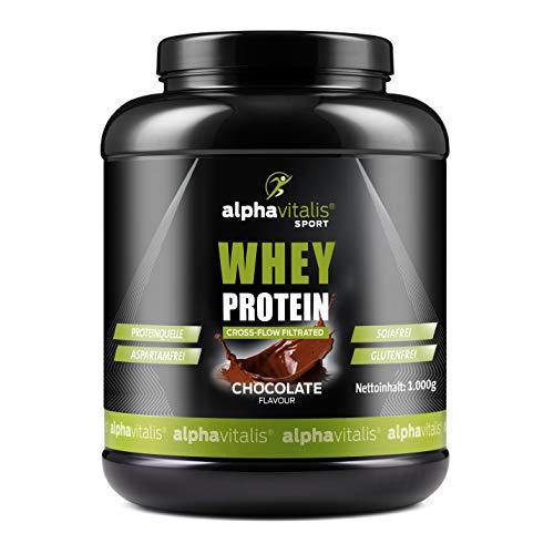 Whey Protein Pulver - Eiweißpulver für Proteinshakes, Kraftsport und Fitness - Whey Konzentrat mikrofiltriert Schoko 1000g