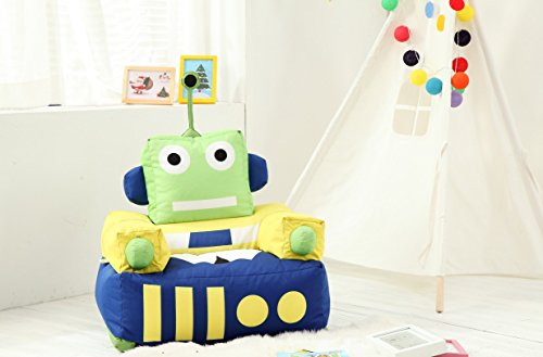 MamaBabaBebe® Pouf pour enfant Motif robot