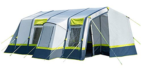 OLPRO Outdoor Leisure Products Home Air Tent 6.5m x 3.2m 5 Berth Inflatable Family Tent Green & Grey
